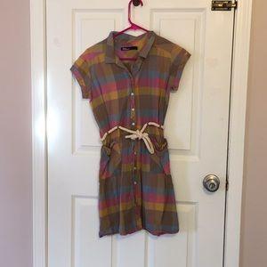 Rainbow Plaid Dress